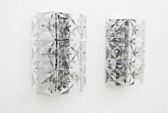 Kinkeldey Crystal Glass Wall Sconces Glass Lights by Kinkeldey circa 1960s - 1858231