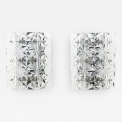 Kinkeldey Crystal Glass Wall Sconces Glass Lights by Kinkeldey circa 1960s - 1861095