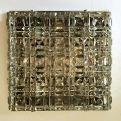 Kinkeldey Kinkeldey Austrian Crystal 1960s Flush Ceiling Light - 1271902