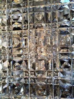 Kinkeldey Kinkeldey Austrian Crystal 1960s Flush Ceiling Light - 1271905