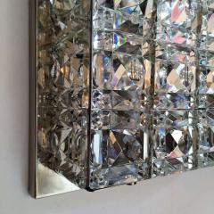 Kinkeldey Kinkeldey Austrian Crystal 1960s Flush Ceiling Light - 1271906