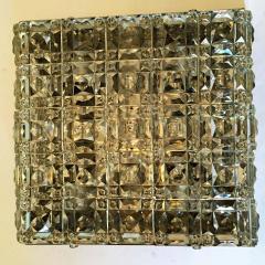 Kinkeldey Kinkeldey Austrian Crystal 1960s Flush Ceiling Light - 1271908