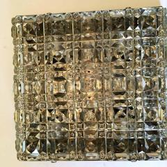 Kinkeldey Kinkeldey Austrian Crystal 1960s Flush Ceiling Light - 1271909