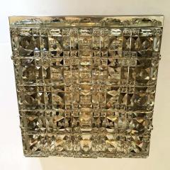 Kinkeldey Kinkeldey Austrian Crystal 1960s Flush Ceiling Light - 1271910