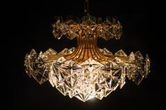 Kinkeldey Kinkeldey Gilt Brass Chandelier 1960s - 1297966