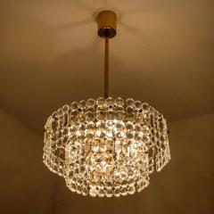 Kinkeldey Pair Of Gold plated Kinkeldey Crystal Glass Chandeliers 1960s - 1336468