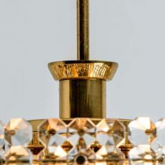 Kinkeldey Pair Of Gold plated Kinkeldey Crystal Glass Chandeliers 1960s - 1336469