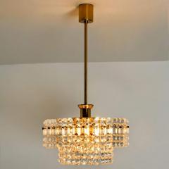 Kinkeldey Pair Of Gold plated Kinkeldey Crystal Glass Chandeliers 1960s - 1336470