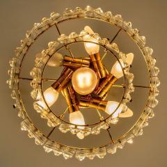 Kinkeldey Pair Of Gold plated Kinkeldey Crystal Glass Chandeliers 1960s - 1336472