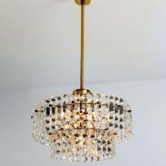 Kinkeldey Pair Of Gold plated Kinkeldey Crystal Glass Chandeliers 1960s - 1336473