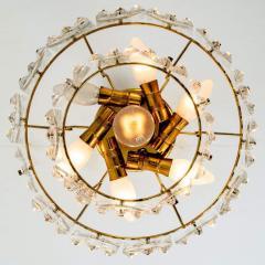 Kinkeldey Pair Of Gold plated Kinkeldey Crystal Glass Chandeliers 1960s - 1336479