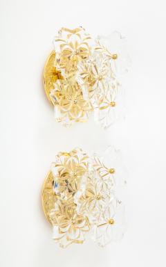 Kinkeldey Pair of 1960s Crystal Sconces by Kinkeldey  - 1137325