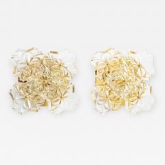 Kinkeldey Pair of 1960s Crystal Sconces by Kinkeldey  - 1138234