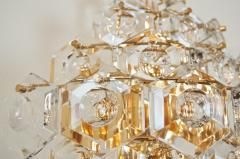 Kinkeldey Pair of Substantial Gold Plate Sconces with Large Geometric Crystals - 1826690