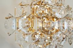 Kinkeldey Pair of Substantial Gold Plate Sconces with Large Geometric Crystals - 1826691