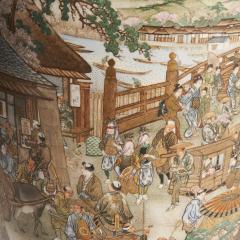 Kinkozan A large Japanese Meiji Period Satsuma vase by Kinkozan - 1368905