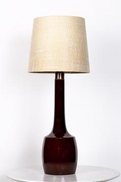 Knabstrup Danish ceramic lamp by knabstrup years 50 60 for Gorgeous Burgundy - 2102538