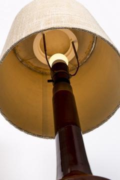 Knabstrup Danish ceramic lamp by knabstrup years 50 60 for Gorgeous Burgundy - 2102565