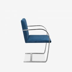 Knoll Brno Flat Bar Chairs in Navy Ultrasuede by Mies van der Rohe for Knoll Set of 8 - 1775661
