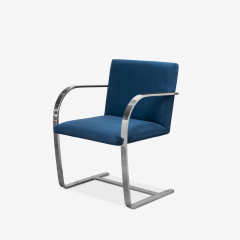 Knoll Brno Flat Bar Chairs in Navy Ultrasuede by Mies van der Rohe for Knoll Set of 8 - 1775662