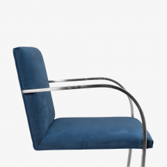 Knoll Brno Flat Bar Chairs in Navy Ultrasuede by Mies van der Rohe for Knoll Set of 8 - 1775664