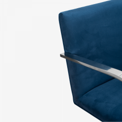 Knoll Brno Flat Bar Chairs in Navy Ultrasuede by Mies van der Rohe for Knoll Set of 8 - 1775666