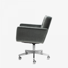 Knoll Cafiero Executive Task Chair in Graphite Velvet by Vincent Cafiero for Knoll - 2053340