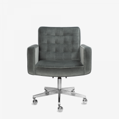 Knoll Cafiero Executive Task Chair in Graphite Velvet by Vincent Cafiero for Knoll - 2053344