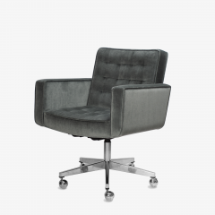Knoll Cafiero Executive Task Chair in Graphite Velvet by Vincent Cafiero for Knoll - 2053345