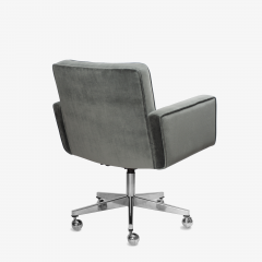 Knoll Cafiero Executive Task Chair in Graphite Velvet by Vincent Cafiero for Knoll - 2053346