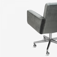 Knoll Cafiero Executive Task Chair in Graphite Velvet by Vincent Cafiero for Knoll - 2053347
