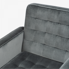 Knoll Cafiero Executive Task Chair in Graphite Velvet by Vincent Cafiero for Knoll - 2053352