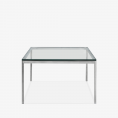 Knoll Florence Knoll Coffee End Tables in Glass Chrome by Florence Knoll for Knoll - 2082123