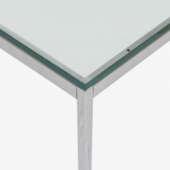 Knoll Florence Knoll Coffee End Tables in Glass Chrome by Florence Knoll for Knoll - 2082126