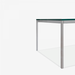 Knoll Florence Knoll Coffee End Tables in Glass Chrome by Florence Knoll for Knoll - 2082127