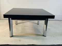 Knoll International BLACK GRANITE AND CHROME COFFEE TABLE BY KNOLL - 1940137