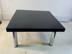 Knoll International BLACK GRANITE AND CHROME COFFEE TABLE BY KNOLL - 1940139