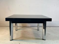 Knoll International BLACK GRANITE AND CHROME COFFEE TABLE BY KNOLL - 1940140