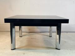 Knoll International BLACK GRANITE AND CHROME COFFEE TABLE BY KNOLL - 1940142