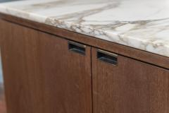 Knoll Knoll Marble Top Walnut Credenza - 1978778