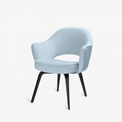 Knoll Knoll Saarinen Executive Arm Chairs in Ultrasuede Walnut Legs Set of 4 - 2082130