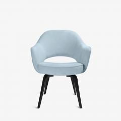 Knoll Knoll Saarinen Executive Arm Chairs in Ultrasuede Walnut Legs Set of 4 - 2082132