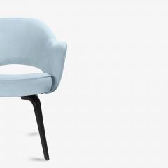 Knoll Knoll Saarinen Executive Arm Chairs in Ultrasuede Walnut Legs Set of 4 - 2082136