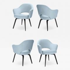 Knoll Knoll Saarinen Executive Arm Chairs in Ultrasuede Walnut Legs Set of 4 - 2082734