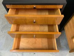 Knoll Mid Century Florence Knoll Style Lacquered Case Nightstands Cabinets in Walnut - 1972469