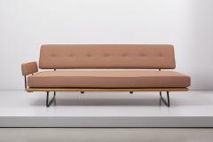 Knoll Minimalist Daybed by Rolf Grunow for Knoll New Upholstery Germany 1950s - 1622834