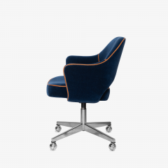 Knoll Saarinen Executive Arm Chair in Mohair Leather by Eero Saarinen for Knoll - 1899077