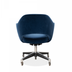Knoll Saarinen Executive Arm Chair in Velvet Swivel Base by Eero Saarinen for Knoll - 1838807