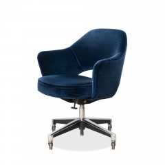 Knoll Saarinen Executive Arm Chair in Velvet Swivel Base by Eero Saarinen for Knoll - 1838810