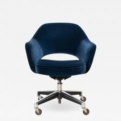Knoll Saarinen Executive Arm Chair in Velvet Swivel Base by Eero Saarinen for Knoll - 1839672